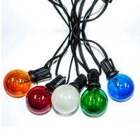 Blue/Amber/Green/Red Mulicolored Bulbs 25-foot Party Lights