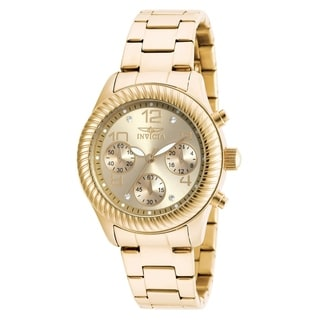 Invicta Women's 20266 Angel Quartz Chronograph Gold Dial Watch