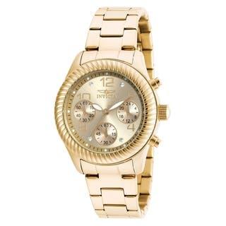 Invicta Women's 20266 Angel Quartz Chronograph Gold Dial Watch https://ak1.ostkcdn.com/images/products/11933528/P18822404.jpg?impolicy=medium