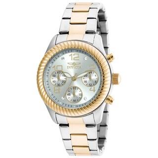 Invicta Women's 20268 Angel Quartz Chronograph Silver Dial Watch