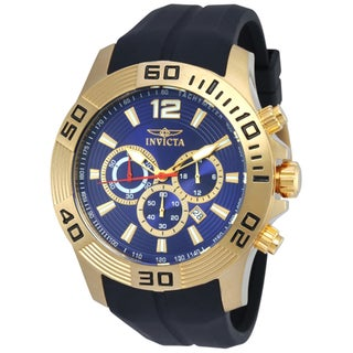 Invicta Men's 20299 Pro Diver Quartz Chronograph Blue Dial Watch