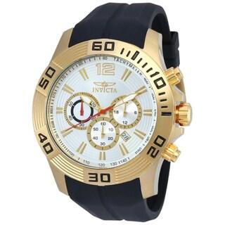 Invicta Men's 20301 Pro Diver Quartz Chronograph Silver Dial Watch