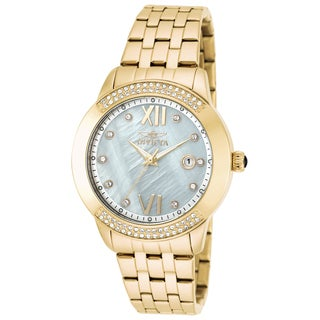Invicta Women's 20313 Angel Quartz 3 Hand White Dial Watch