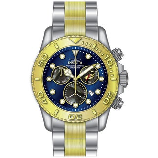 Invicta Men's 20346 Pro Diver Quartz Chronograph Black, Blue Dial Watch