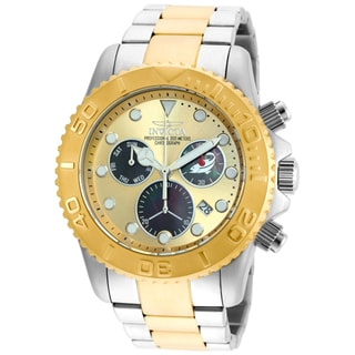 Invicta Men's 20348 Pro Diver Quartz Chronograph Black, Gold Dial Watch