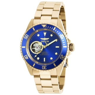 Invicta Men's 20437 Pro Diver Automatic 3 Hand Blue Dial Watch