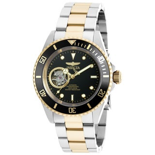 Invicta Men's 20438 Pro Diver Automatic 3 Hand Black Dial Watch
