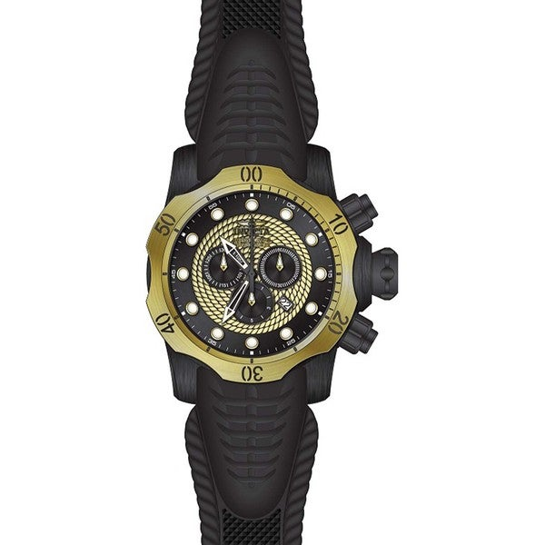 bed50c081 Shop Invicta Men's 20444 Venom Quartz Chronograph Black, Gold Dial Watch -  Free Shipping Today - Overstock - 11933597