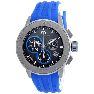 Technomarine Men's TM-515003 Titanium Reef Quartz Chronograph Charcoal Dial Watch