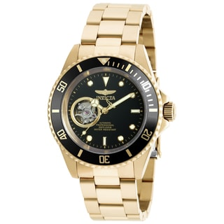 Invicta Men's 20436 Pro Diver Automatic 3 Hand Black Dial Watch