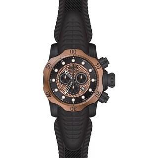 Invicta Men's 20445 Venom Quartz Chronograph Black, Rose Gold Dial Watch