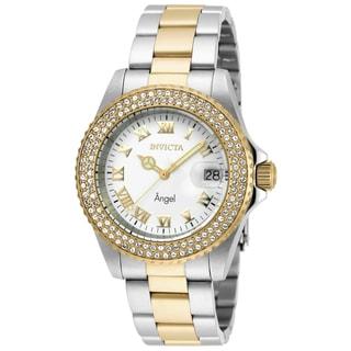 Invicta Women's 20503 Angel Quartz 3 Hand White Dial Watch