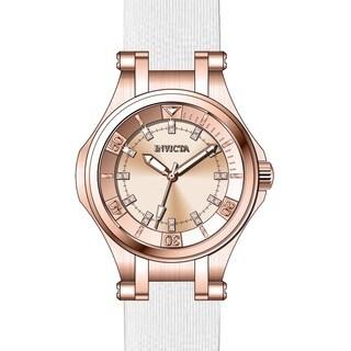 Invicta Women's 21757 Wildflower Quartz 3 Hand Rose Gold Dial Watch