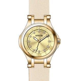 Invicta Women's 21760 Wildflower Quartz 3 Hand Gold Dial Watch
