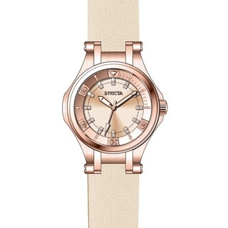 Invicta Women's 21761 Wildflower Quartz 3 Hand Rose Gold Dial Watch