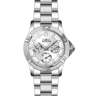 Invicta Women's 21764 Angel Quartz Chronograph White, Silver Dial Watch