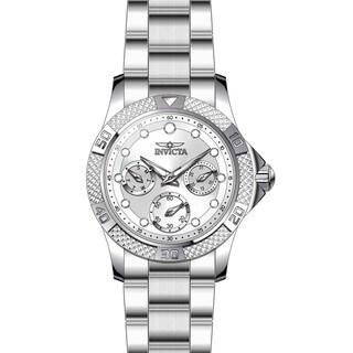 Invicta Women's 21764 Angel Quartz Chronograph White, Silver Dial Watch|https://ak1.ostkcdn.com/images/products/11933670/P18822518.jpg?_ostk_perf_=percv&impolicy=medium