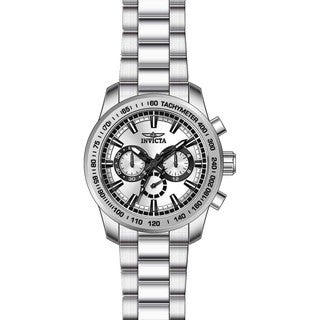 Invicta Men's 21794 Speedway Quartz Chronograph Silver Dial Watch