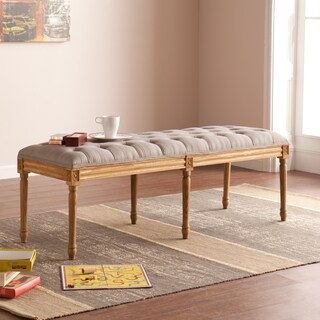 Upton Home Marian Grey Upholstered Bench - OS4028CB (As Is Item)