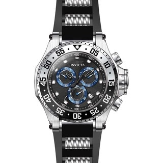 Invicta Men's 21830 Pro Diver Quartz Chronograph Black Dial Watch