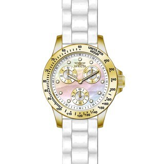 Invicta Women's 21985 Speedway Quartz Chronograph White Dial Watch