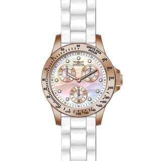 Invicta Women's 21995 Speedway Quartz Chronograph White Dial Watch