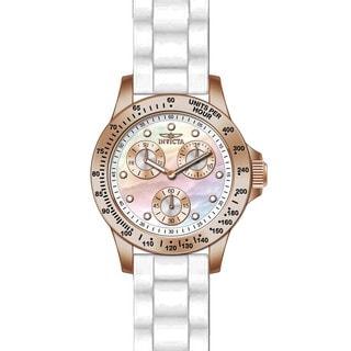 Invicta Women's 21995 Speedway Quartz Chronograph White Dial Watch