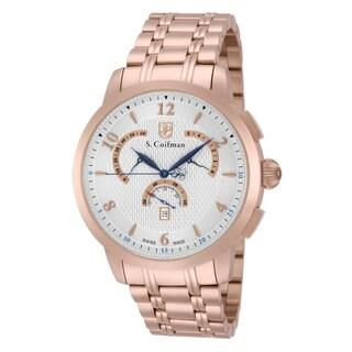 S. Coifman Men's SC0239 Quartz Chronograph Silver Dial Watch