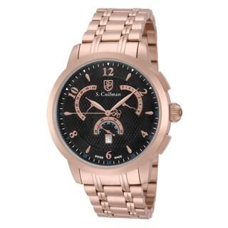 S. Coifman Men's SC0240 Quartz Multifunction Black Dial Watch