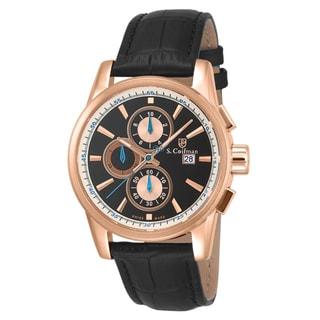 S. Coifman Men's SC0257 Quartz Chronograph Black Dial Watch