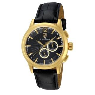 S. Coifman Men's SC0263 Quartz Chronograph Black Dial Watch