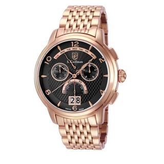 S. Coifman Men's SC0189 Quartz Chronograph Black Dial Watch
