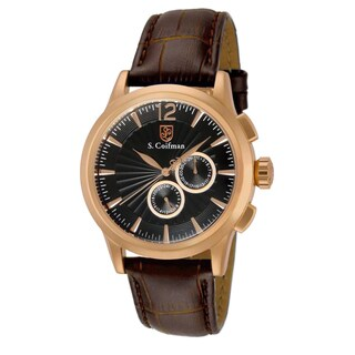 S. Coifman Men's SC0265 Quartz Chronograph Black Dial Watch