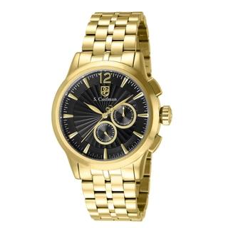 S. Coifman Men's SC0270 Quartz Chronograph Black Dial Watch