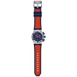Technomarine Men's TM-115012 Cruise California Quartz Chronograph Blue, Orange Dial Watch