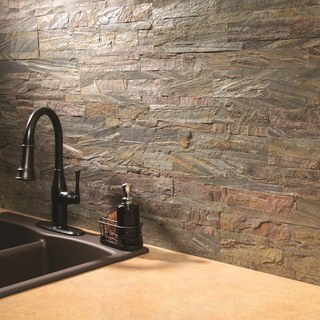 Aspect 6 X 24 Inch Weathered Quartz Peel And Stick Stone Backsplash