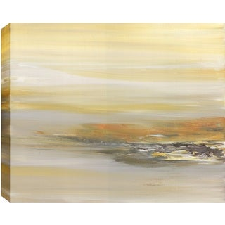 Hobbitholeco. Sanjay Patel, Sandy View Abstract, Gel Brush Finish Canvas Wall Art Decor, Gallery Wrapped 30X40