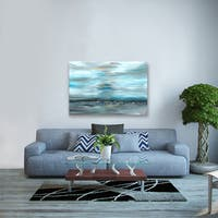 ArtMaison Canada. Sanjay Patel, Distant Rocks Abstract, Canvas Print Canvas Wall Art Decor, Gallery Wrapped 30X40