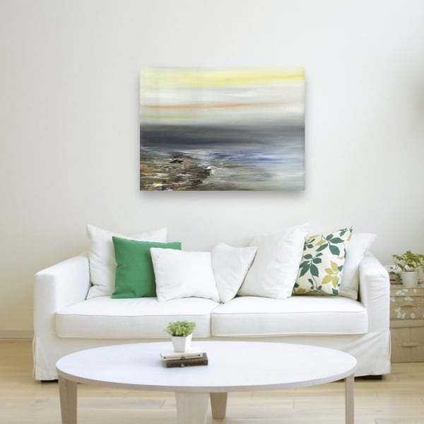 shop artmaison canada sanjay patel sand and water abstract canvas