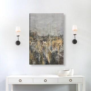 Hobbitholeco., Sanjay Patel, Rocky Abstract, Hand Applied Gel Brush Finish Canvas
