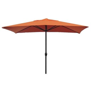 Escada Designs EGSCU236-SP17D Sunset Orange Aluminum 10-foot x 6-foot Rectangular Patio Umbrella