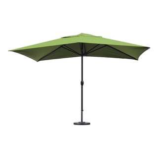Escada Designs Lime Green Fabric/Aluminum Patio Umbrella with Base