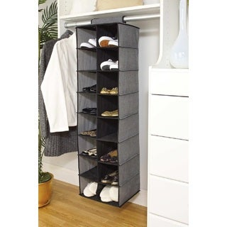 Simplify 16-pocket Hanging Closet Shoe Organizer