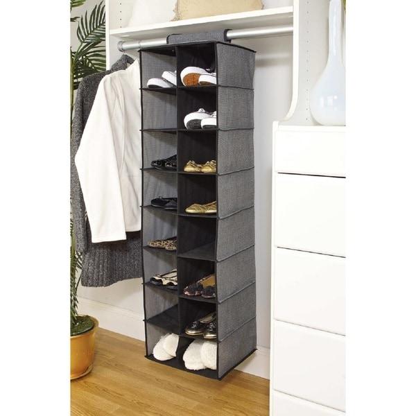 Simplify 16 Pocket Hanging Closet Shoe Organizer