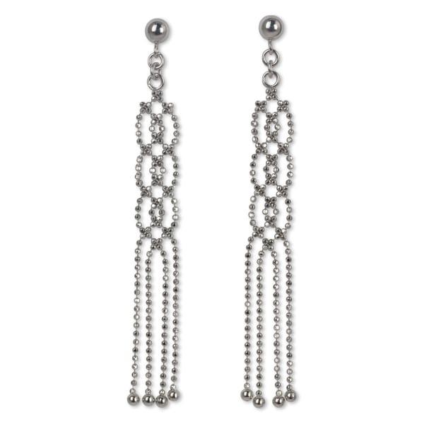 Handmade Sterling Silver Lanna Fringe Earrings (Thailand)