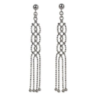 Handcrafted Sterling Silver 'Lanna Fringe' Earrings (Thailand)