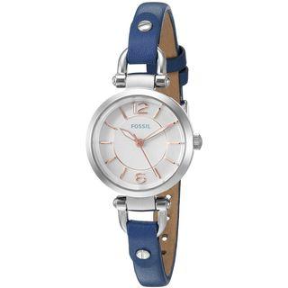 Fossil Women's ES4001 'Georgia Mini' Blue Leather Watch