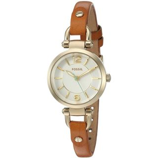 Fossil Women's ES4000 'Georgia Mini' Brown Leather Watch