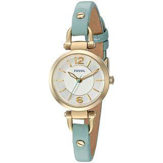 Fossil Women's ES3999 'Georgia Mini' Green Leather Watch