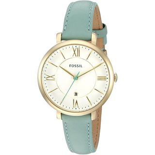 Fossil Women's ES3987 'Jacqueline' Green Leather Watch